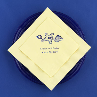 Beach Wedding Napkins
